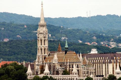 Hills Surrounding the Buda Section of Budapest World History Geography