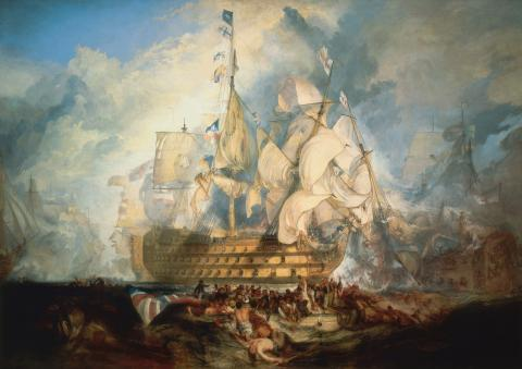 British Victory at Cape Trafalgar  (Illustration) Famous Historical Events Geography Nineteenth Century Life Social Studies World History Visual Arts