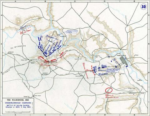 Map of Chancellorsville Campaign - 5 American History Civil Wars Famous Historical Events Famous People Tragedies and Triumphs Geography