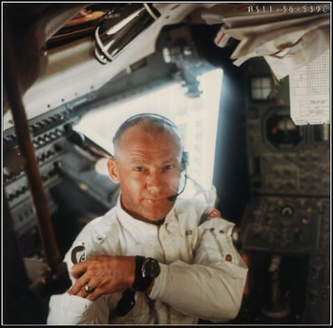 Apollo 11 - Buzz Aldrin in the Lunar Module American History Famous Historical Events Aviation & Space Exploration STEM Legends and Legendary People