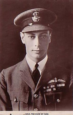 King George VI - As the Duke of York Education Biographies Famous People Government Social Studies World History