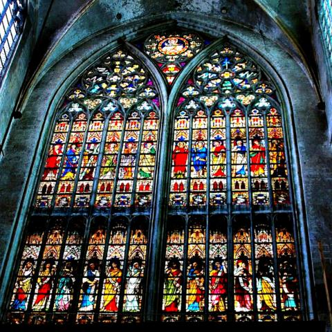STAINED GLASS in BRUGES (Illustration) Ancient Places and/or Civilizations Geography Medieval Times Philosophy Visual Arts