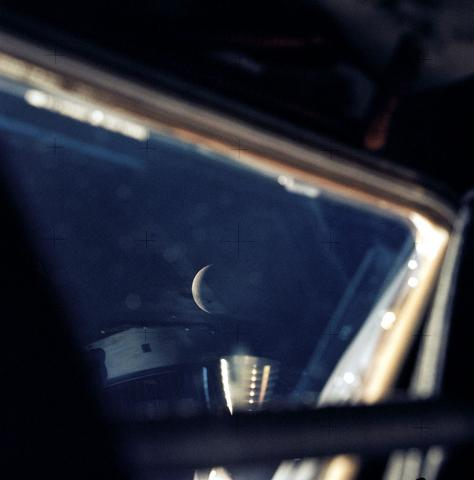 Apollo 13 - View of the Moon from the Spacecraft American History Famous Historical Events Famous People Film Aviation & Space Exploration STEM Tragedies and Triumphs Disasters