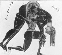 Ajax Carries the Body of Achilles from the Battlefield