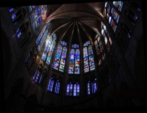 Abbey Church of St. Denis - Upper Choir Medieval Times Philosophy Visual Arts