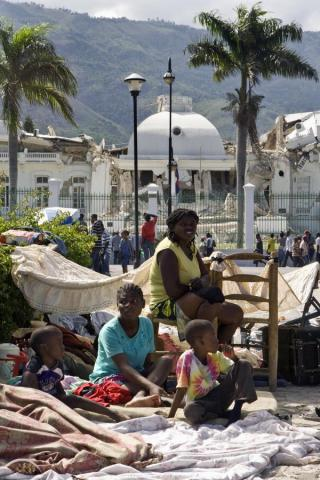 Haiti - Pitching Tents at the Presidential Palace Disasters Famous Historical Events Geography Social Studies World History