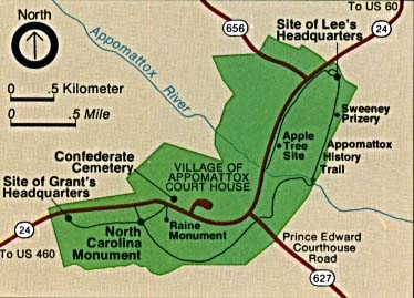 Appomattox Courthouse Map Locator
