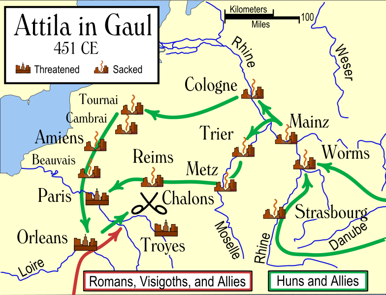 Huns Triumphs And Defeats In Gaul