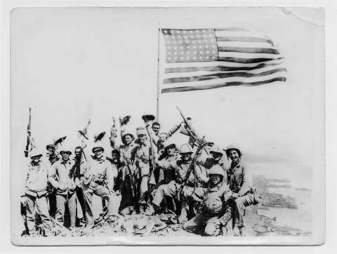 an analysis of joe rosenthals photo of the marines raising the american flag atop mt suribachi iwo j Explore edith horsley's board american history on pinterest | see more ideas about american history, us history and history education.