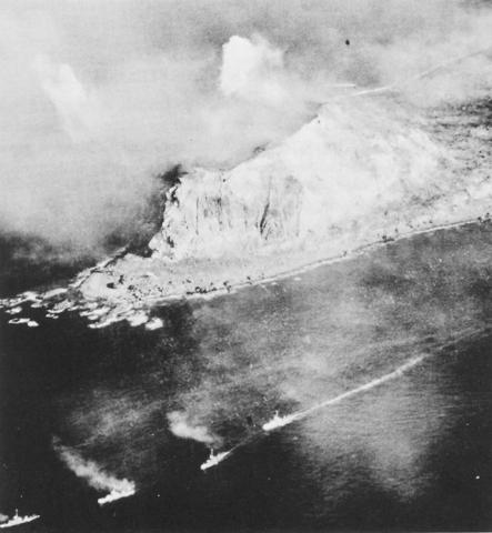 Photograph of Island Under Assault