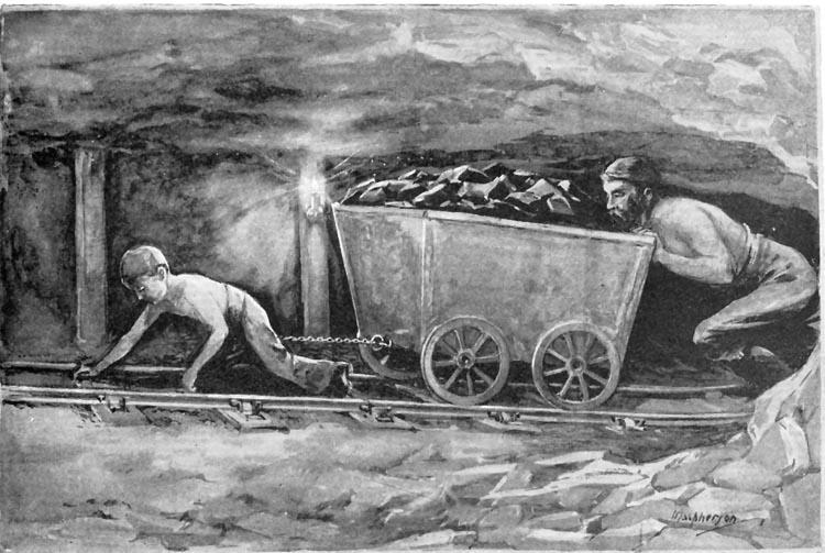 Child Miner - Pulling Coal