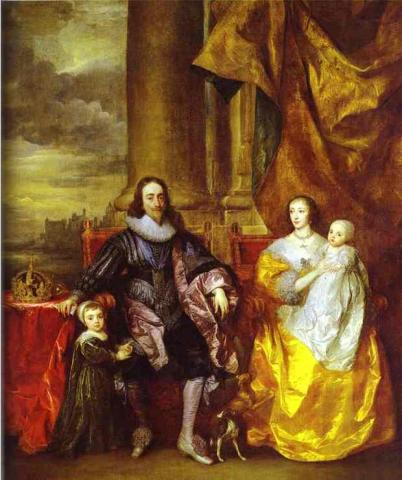 Charles I and His Family (Illustration) Famous Historical Events Famous People Social Studies Visual Arts Civil Wars Biographies