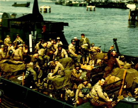 Boading Troop Carriers to Cross the English Channel Famous Historical Events Visual Arts World War II Disasters