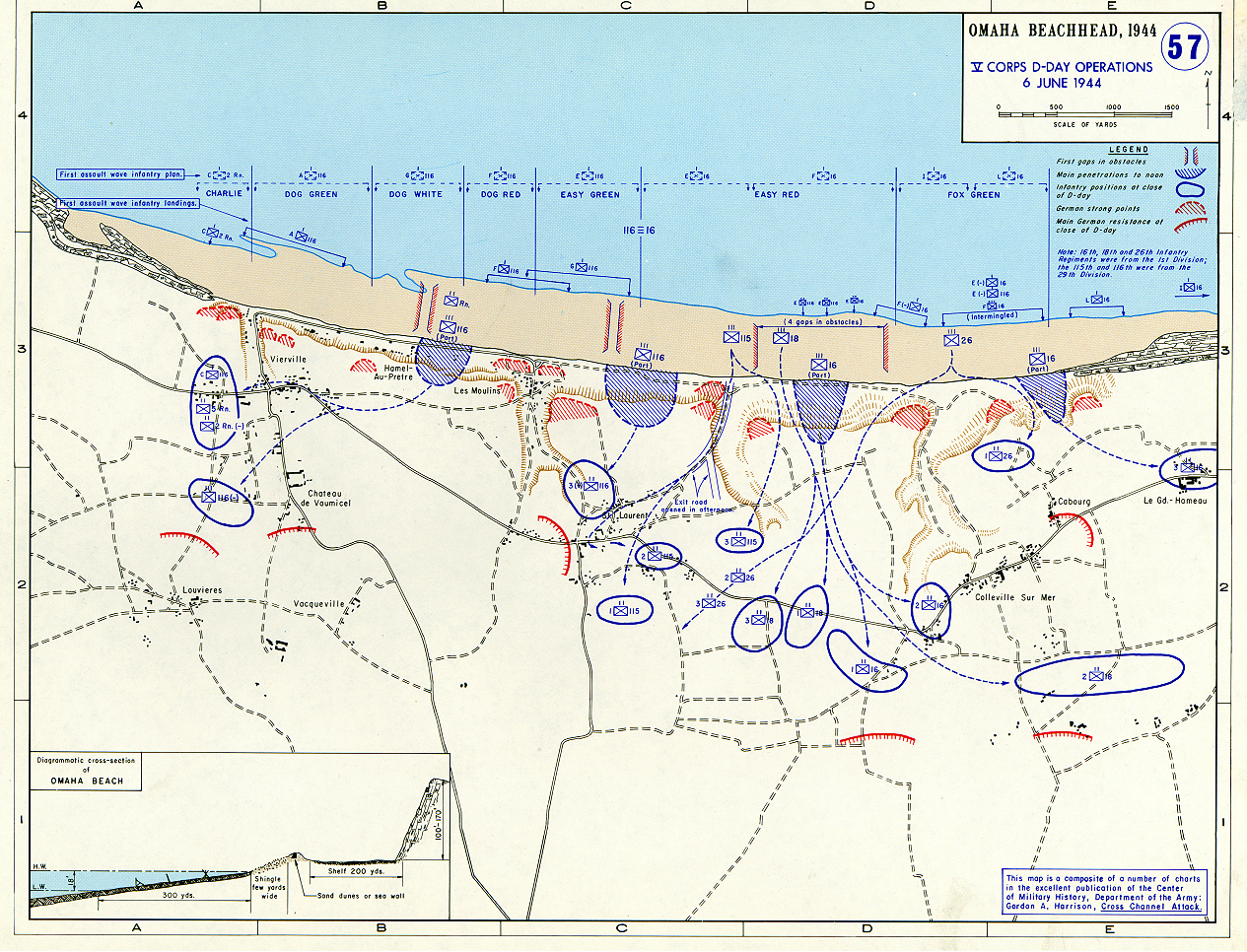 omaha beachhead v corps d day operations geography famous historical events visual arts world