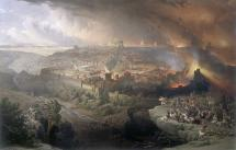 Siege of Jerusalem - A Lost Painting by David Roberts