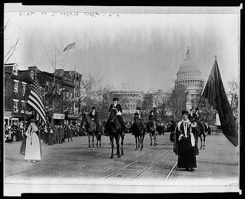 Women Suffrage - Freedom March Photo, 3 March 1913 Visual Arts American History Civil Rights Social Studies