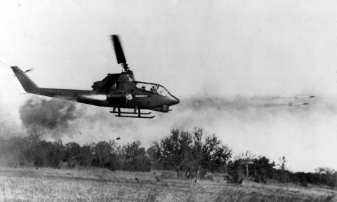 Helicopter Firing Weapons - AH-1 Cobra in Vietnam American History Tragedies and Triumphs