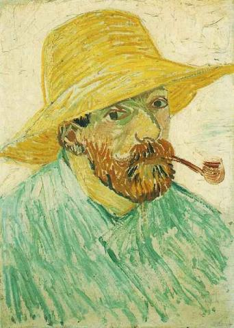 Self Portrait with Straw Hat - August, 1888 Geography History Tragedies and Triumphs Visual Arts Nineteenth Century Life Famous People