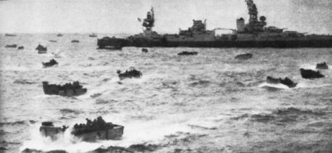 Landing Craft Launched Miles Off-Shore Famous Historical Events World War II Visual Arts