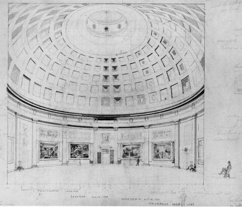 Rotunda at the U.S. Capitol - Early Illustration Tragedies and Triumphs American History Civil Rights Government