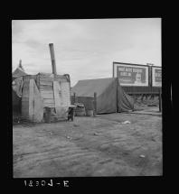 Great Depression Squatter Camp in Porterville