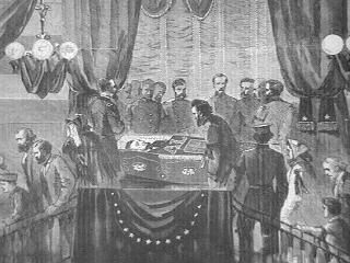 Lincoln in His Coffin - Buffalo Visual Arts American History Disasters Famous Historical Events Famous People Government Nineteenth Century Life Social Studies