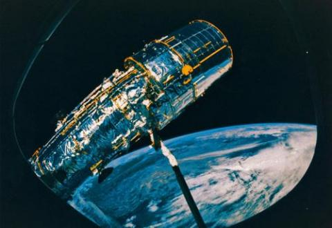 Hubble Telescope - From Discovery's Window Astronomy Education History Social Studies Aviation & Space Exploration STEM