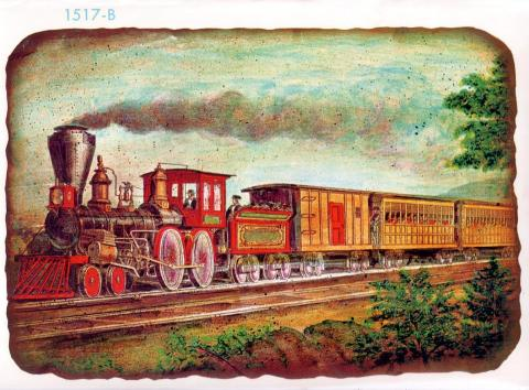 TRAINS GO WEST (Illustration) Famous Historical Events Social Studies Geography Nineteenth Century Life American History