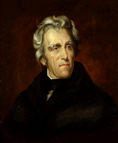 Portrait of Andrew Jackson American Presidents American History Government Social Studies Visual Arts