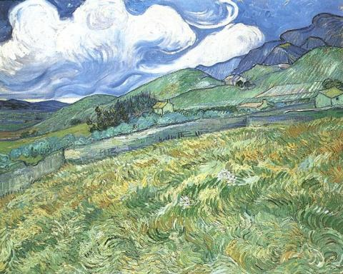 Van Gogh - Mountainous Landscape Behind St. Paul - June, 1889 Social Studies Tragedies and Triumphs Visual Arts Nineteenth Century Life