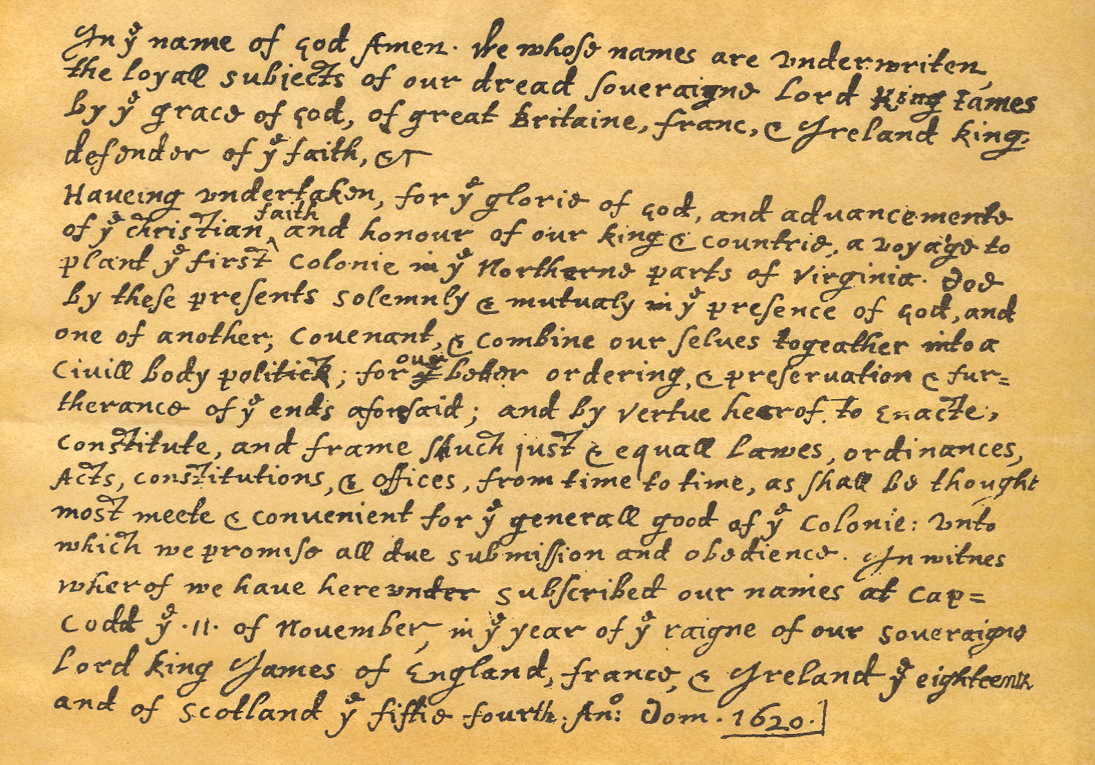 the mayflower compact essay