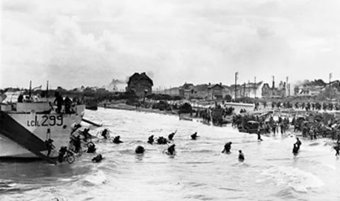 CANADIANS LAND AT JUNO BEACH (Illustration) Famous Historical Events Geography History Social Studies World War II