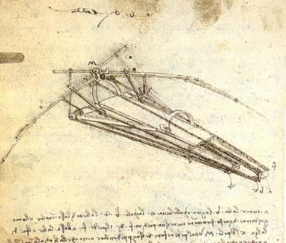 Drawing - by Leonardo da Vinci Famous People Aviation & Space Exploration History