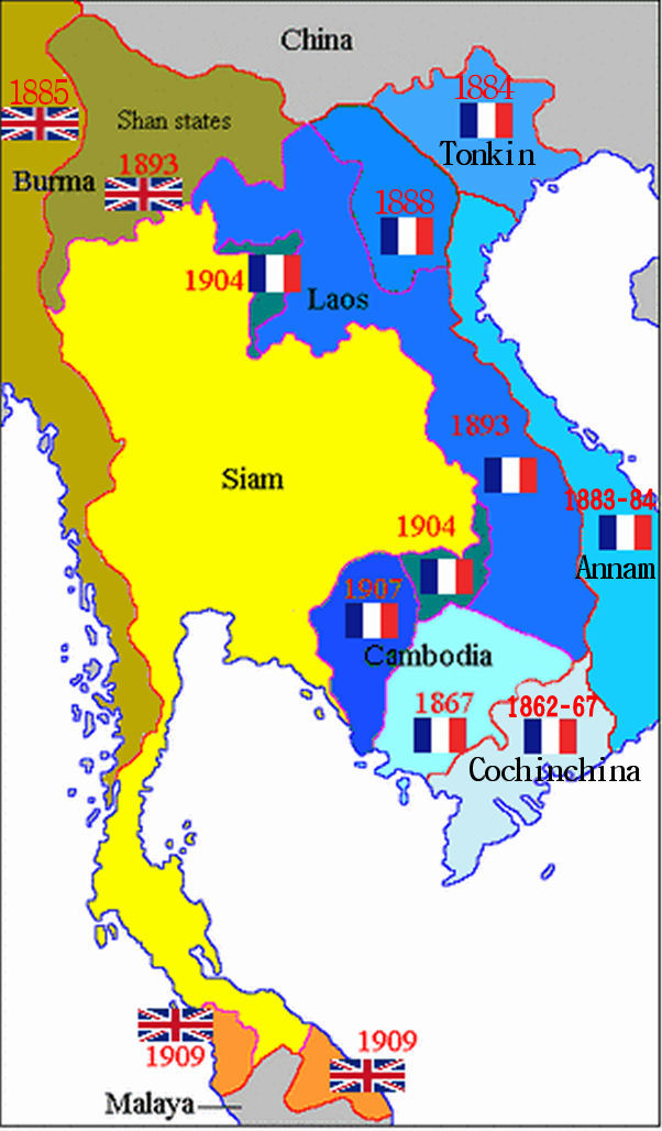 French indochina map locator french indochina map locator world history geography social studies gumiabroncs Images
