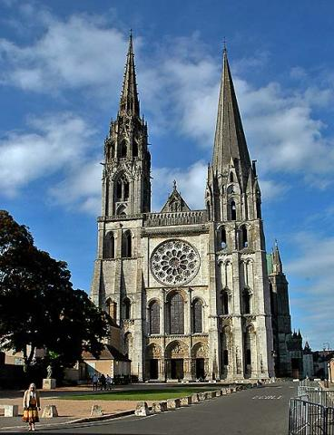 Chartres Cathedral, West Facade Medieval Times Visual Arts Philosophy