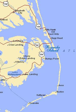 Outer Banks of North Carolina - Roanoke Island Social Studies World History Geography