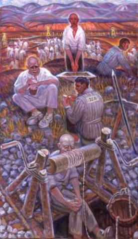 Getman Painting - Prisoners at Rest Civil Rights Social Studies Tragedies and Triumphs Visual Arts Disasters