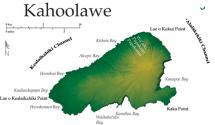 Map of Kahoolawe Island