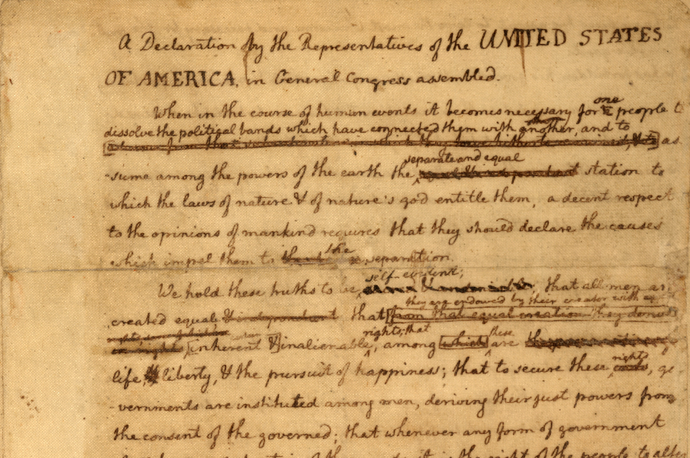 American Revolution - Highlights - DRAFTING THE DECLARATION