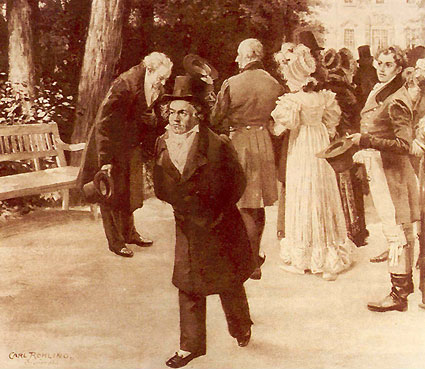 Beethoven in Teplitz where he composed his seventh symphony