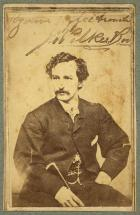 John Wilkes Booth Portrait and Autograph