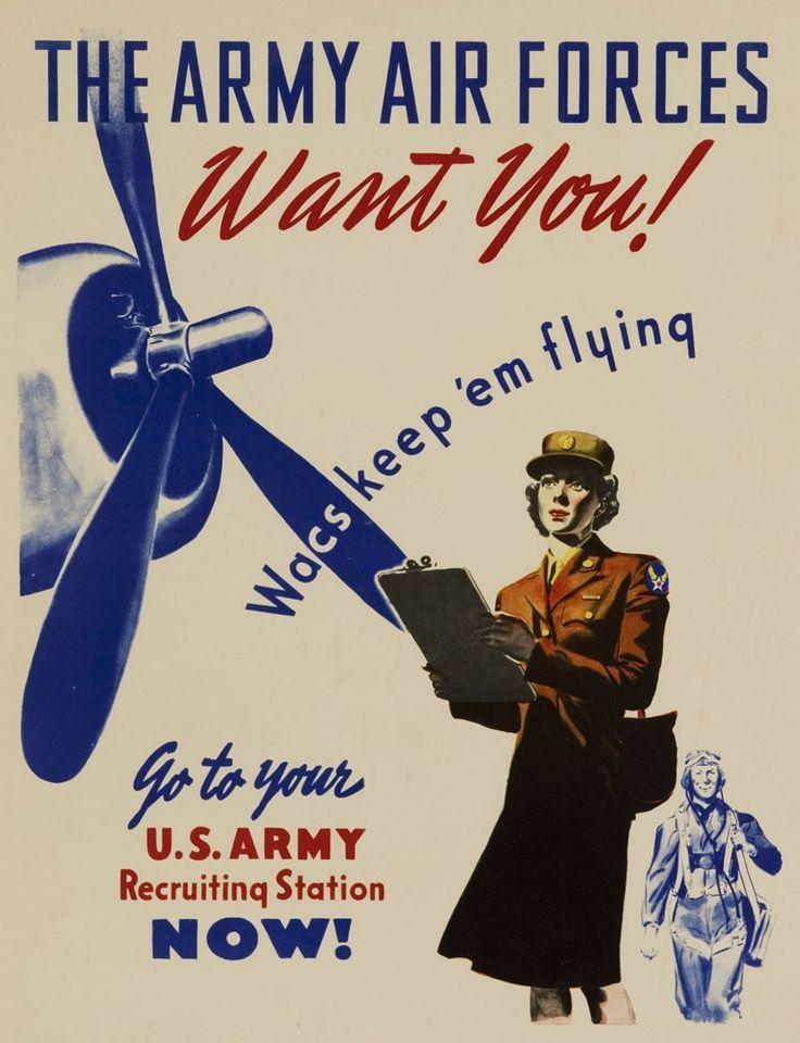 Forgotten Posters of World War II - AMERICAN WOMEN AT WAR