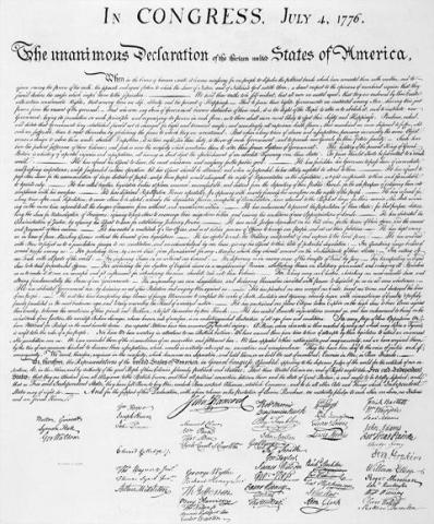 Declaration of Independence - Signatures Visual Arts American Revolution Famous Historical Events Famous People Government Law and Politics Social Studies American History