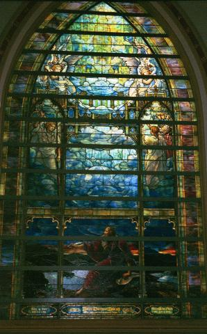 Tiffany Window - Holy City Window Visual Arts Philosophy