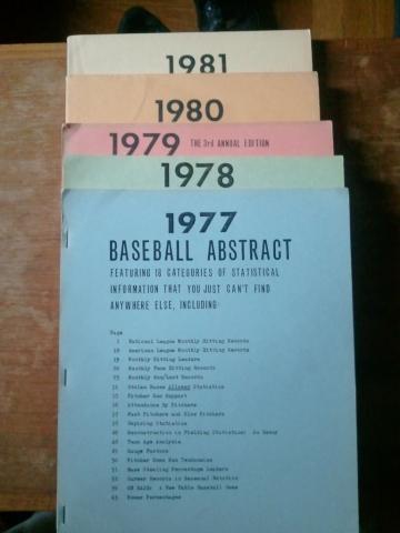 Bill James - 1977 Baseball Abstract STEM Famous Historical Events Sports Visual Arts