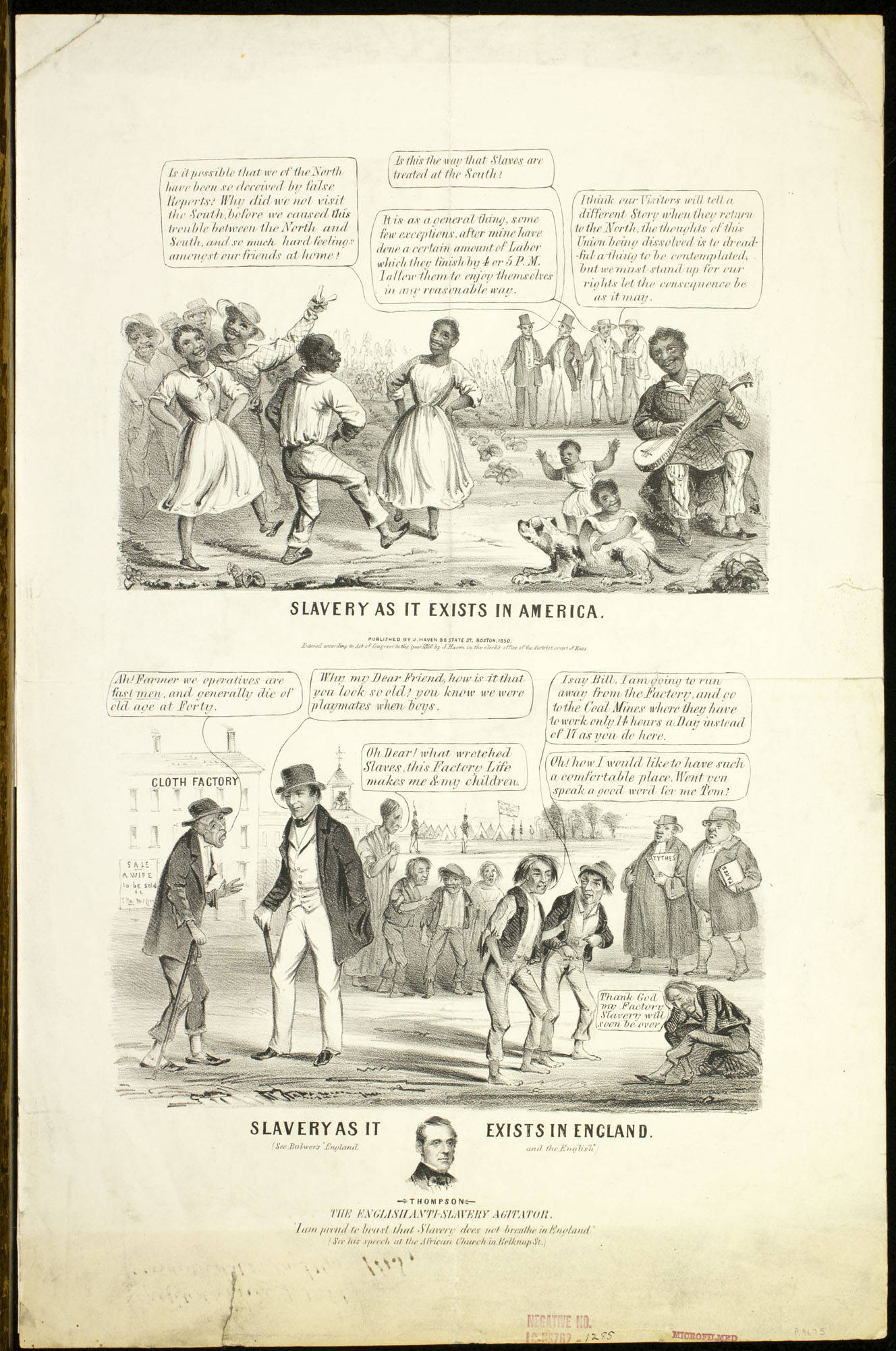 a look at the slavery in america 2 explain that in this activity, students will look closely at an historical print advertisement to learn more about a specific aspect of american life in the 1800s—the institution of slavery 3 working with the entire class, model the analysis process for students using the  title piece of the negroes, negroes advertisement a.