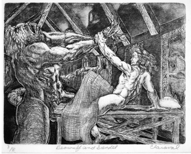 1000+ images about Beowulf on Pinterest | Seamus heaney ... |Beowulf Fighting Grendel Drawing