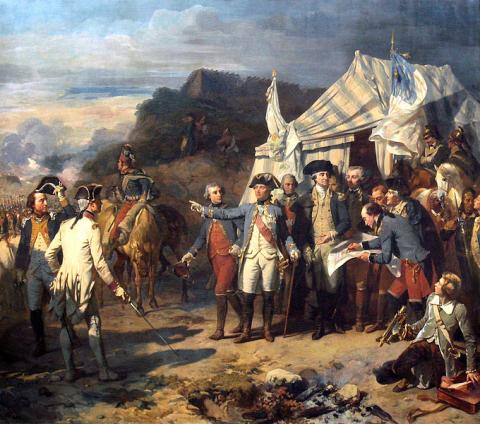 SURRENDER AT YORKTOWN (Illustration) American History Famous Historical Events Famous People Geography Social Studies Revolutionary Wars American Revolution