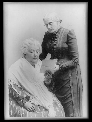 Elizabeth Cady Stanton with Susan B. Anthony Visual Arts American History Civil Rights Famous People Law and Politics Social Studies