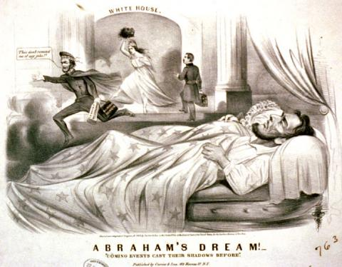 DREAMS OF DEATH (Illustration) American Presidents Biographies Famous Historical Events Famous People Government Nineteenth Century Life Social Studies American History